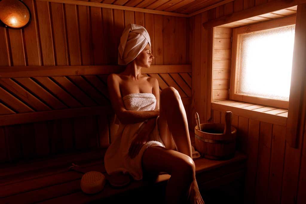 skora nadwrazliwa i sauna